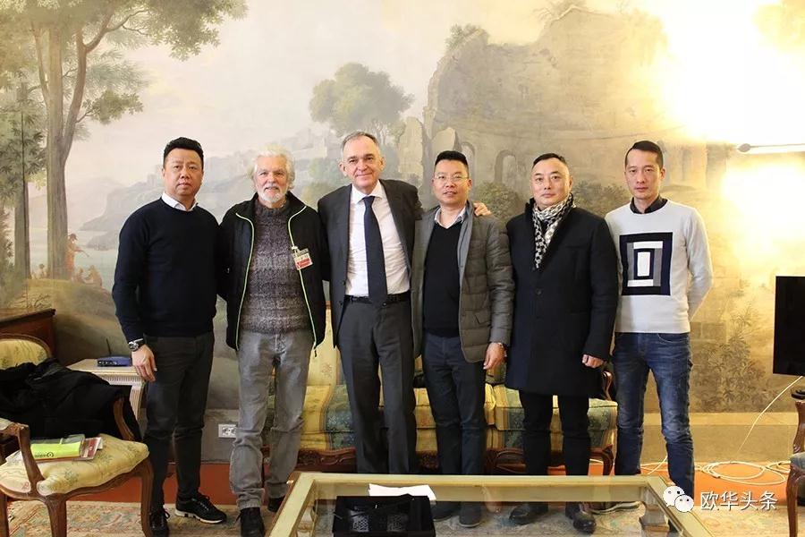 普拉托三大侨团代表拜会托斯卡纳大区主席罗西